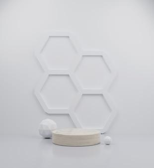 3d render kreis marmor podium sammlung abstrakte hintergrundillustration