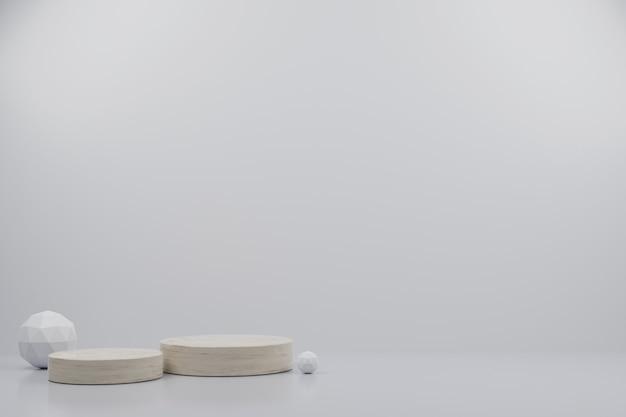 3d-render marmor podium sammlung abstrakte hintergrundillustration