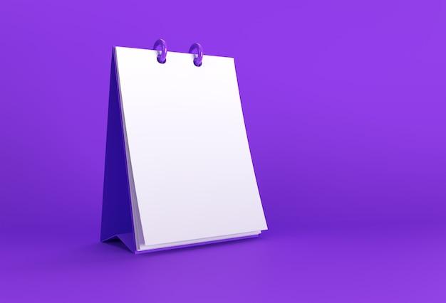 3d-render-notebook-modell mit sauberem leerzeichen für design und werbung, perspektivische ansicht der 3d-darstellung.