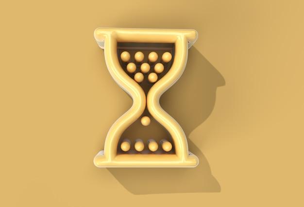 3d-render-sanduhr-maus-symbol mit abstraktem stift-tool erstellt beschneidungspfad in jpeg enthalten einfach zu zusammengesetzt.