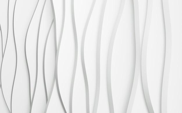 3d-render sauberer weißer gewellter hintergrund