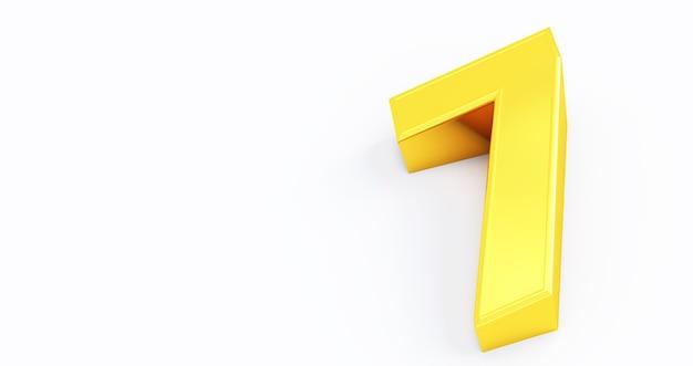 3d-render von gold nummer 7