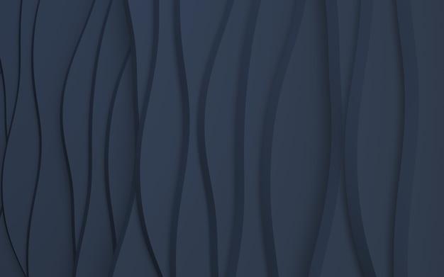 3d-render wellenförmiger blauer marine-hintergrund
