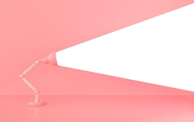 3d-renderillustration mit lampenlicht