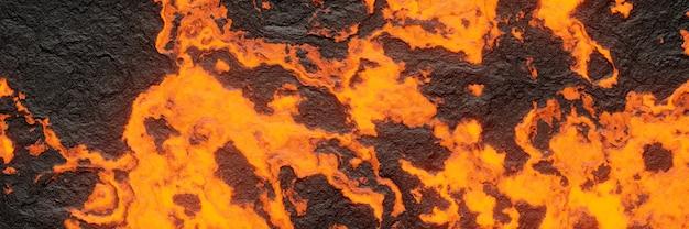 3d-rendering. abstrakte basaltische lava.