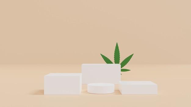 3d-rendering abstrakte plattformen geometrische figuren in modernem minimalistischem design bühnenmodell-schaufenster für produkt-banner-verkaufspräsentation kosmetik und rabatt für werbung3d-rendering-illustration