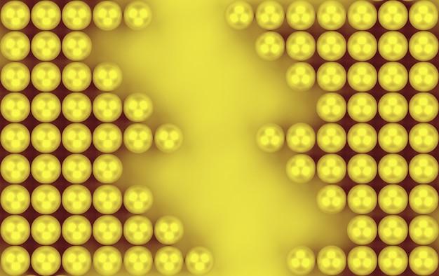 3d-rendering. abstrakter goldener bereichperlen-musterhintergrund.