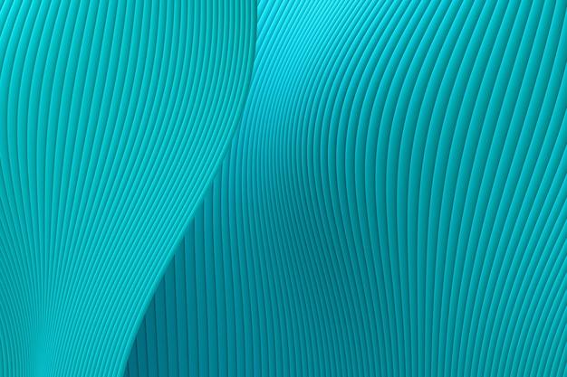 3d-rendering, abstrakter wandwellenarchitektur-seegrünhintergrund, seegrünhintergrund für präsentation, portfolio, website