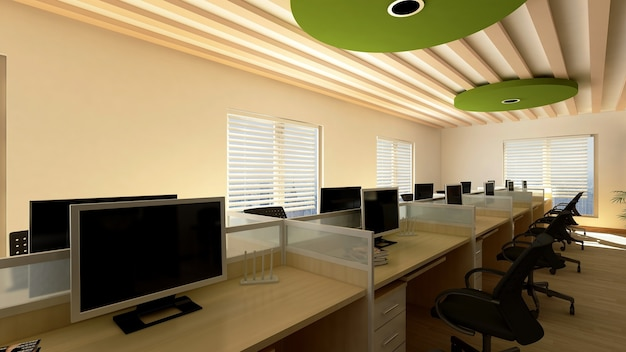 3d-rendering-bürohintergrund