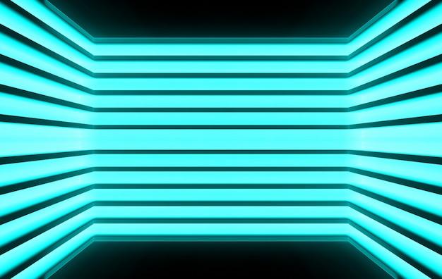 3d-rendering, dark panels dekor auf blaulicht wand hintergrund,