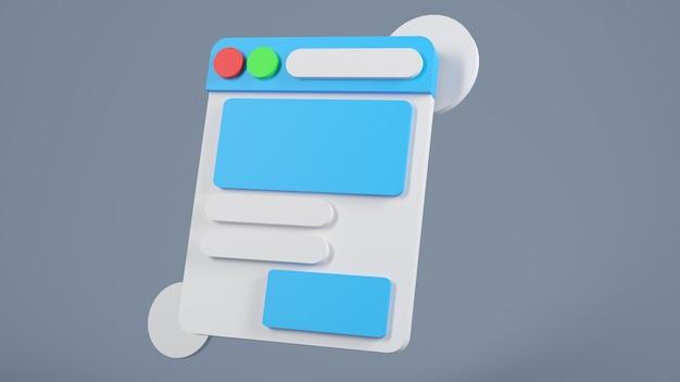 3d-rendering-darstellung mobile anwendungssoftware und webentwicklung