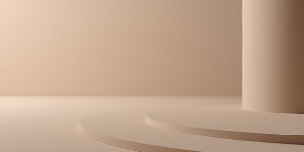 3d-rendering der abstrakten komposition für die produktpräsentation