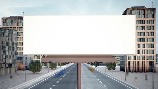 3d-rendering der großen horizontalen werbetafel