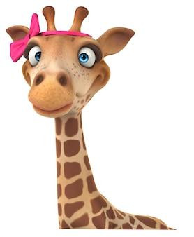3d-rendering der lustigen giraffe