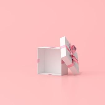 3d-rendering der offenen geschenkbox.