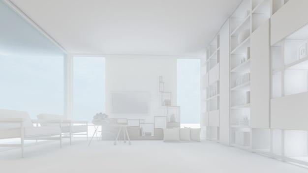 3d-rendering der wohnzimmer-illustration