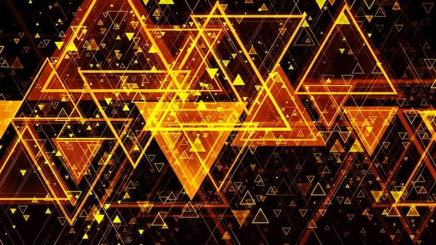 3d-rendering des abstrakten geometrischen hintergrunds aus farbigen geometrischen formen unterschiedlicher größe