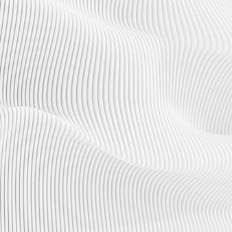 3d-rendering des abstrakten parametrischen musters.