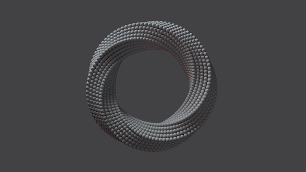 3d-rendering des abstrakten rings.
