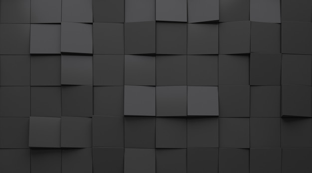 3d-rendering des dunklen abstrakten geometriemusters.