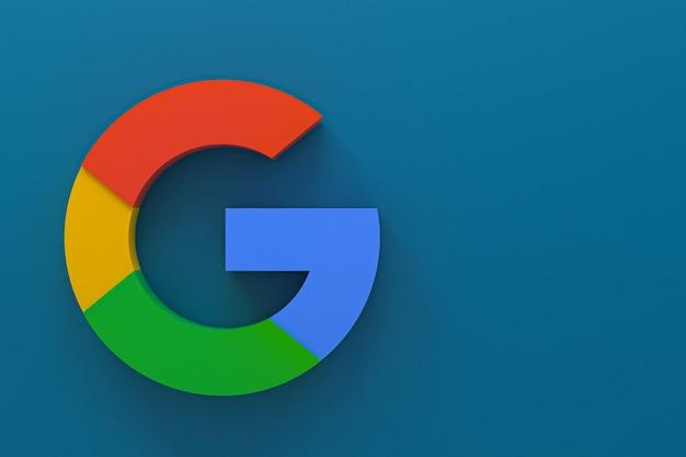 3d-rendering des google-anwendungslogos
