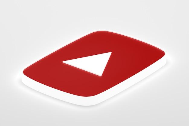 3d-rendering des google-minimallogos in nahaufnahme für designhintergrundschablone
