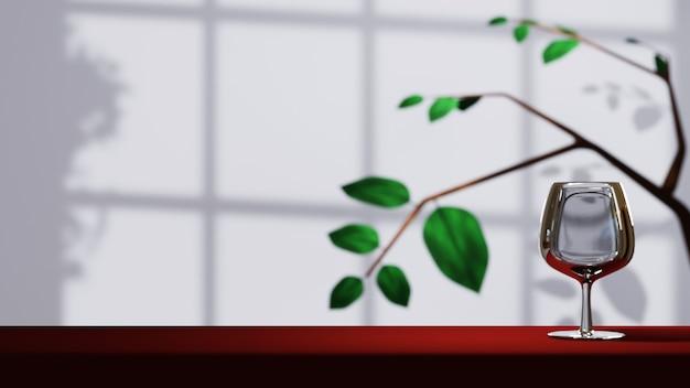 3d-rendering des hintergrunds zum anzeigen von produkten, cremes und kosmetika. für showprodukt. leeres hintergrund-schaufenstermodell.
