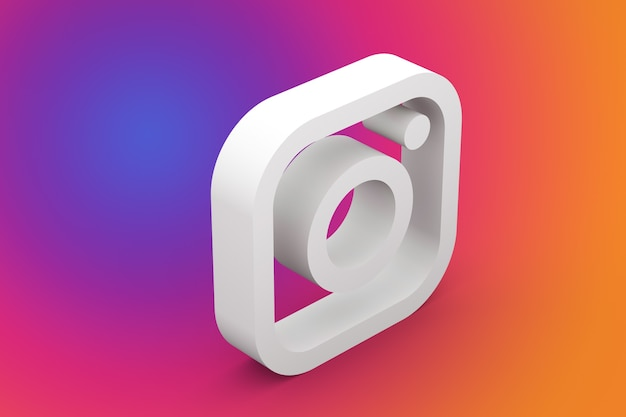 3d-rendering des instagram-logos