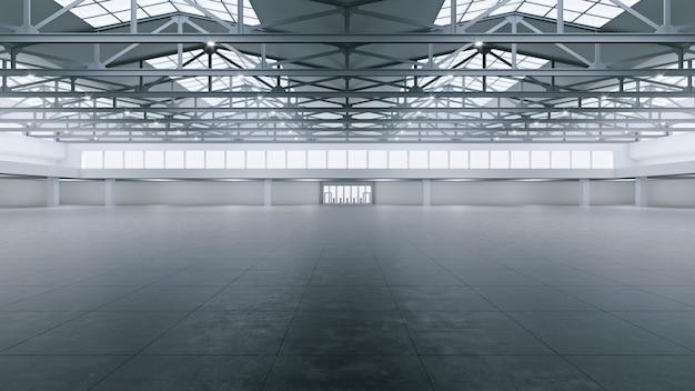 3d-rendering des leeren ausstellungsraums