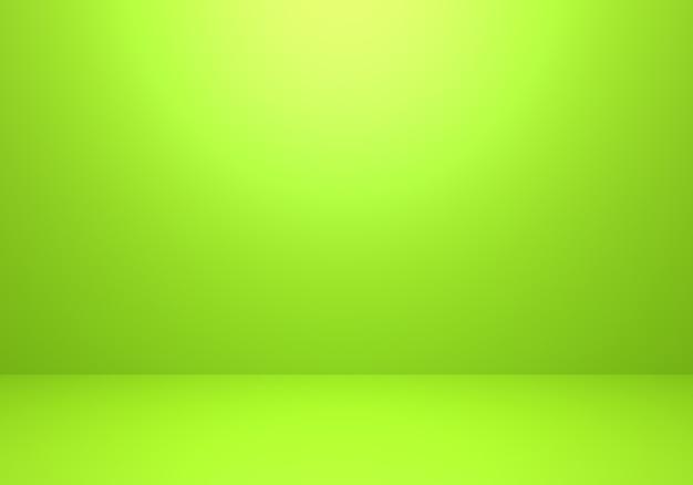 3d-rendering des leeren grünen abstrakten minimalen konzepthintergrundes