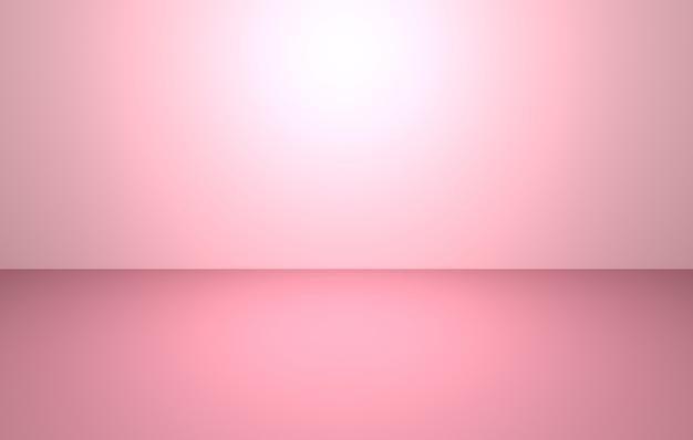 3d-rendering des leeren rosa abstrakten minimalen konzepthintergrunds
