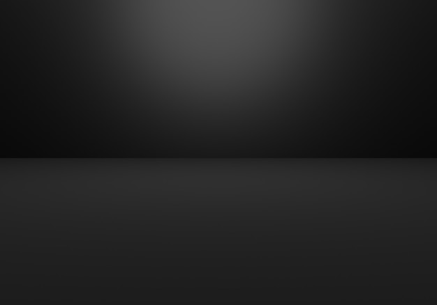 3d-rendering des leeren schwarzen abstrakten minimalen konzepthintergrundes