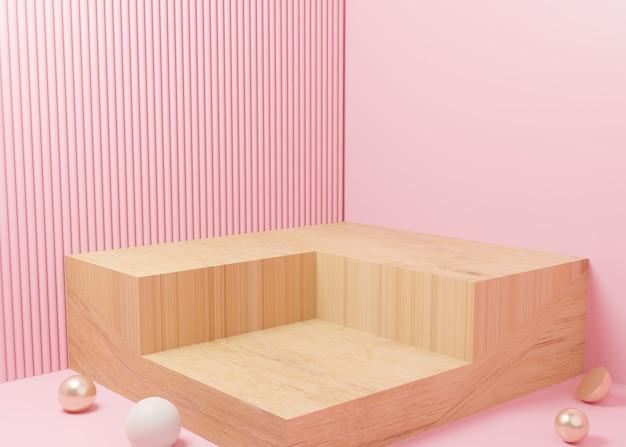 3d-rendering des pastellanzeigepodestdesigns