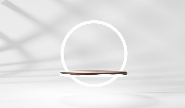 3d-rendering des podestpodests, minimale anzeige für die produktpräsentation