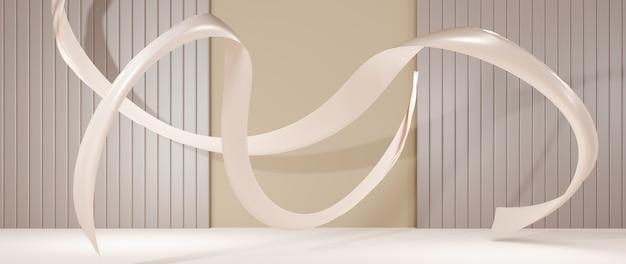 3d-rendering des podiumshintergrundes. mockup für showprodukt. leerer szenenschaukasten mit leerer runder bühne.