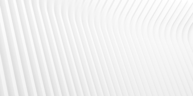 3d-rendering des weißen abstrakten musters.