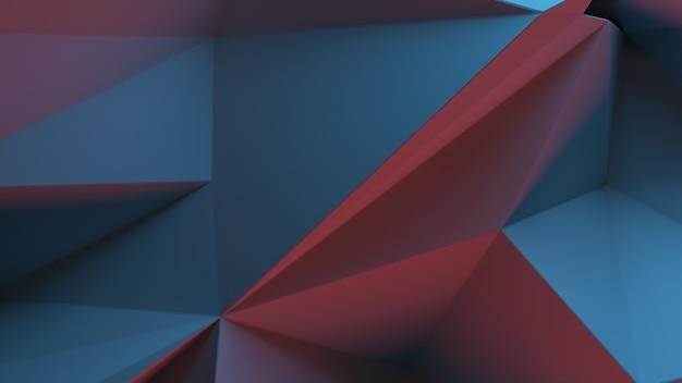 3d-rendering dreieckiger hintergrund. spike und scharfe formen. verformung der dreiecksfläche. abstrakte verschiebung gebrochenes flugzeug.