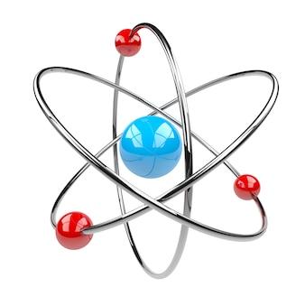 3d-rendering einer atomsymbolstruktur