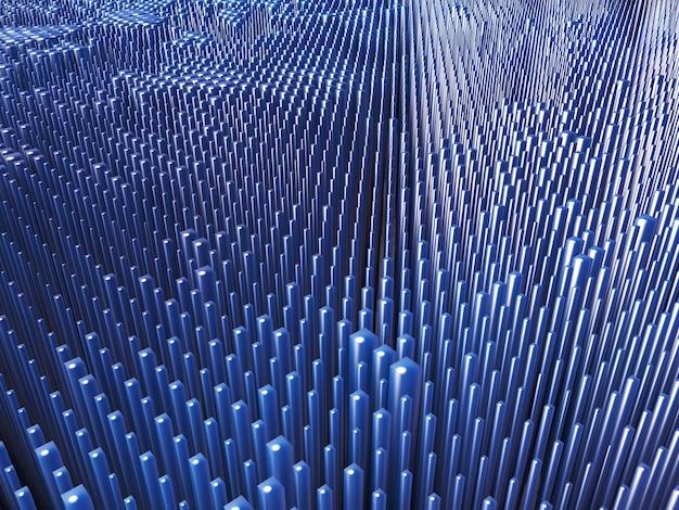 3d-rendering eines abstrakten hintergrunds des extrudierens von blöcken