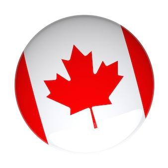 3d-rendering eines abzeichens mit der kanadischen flagge