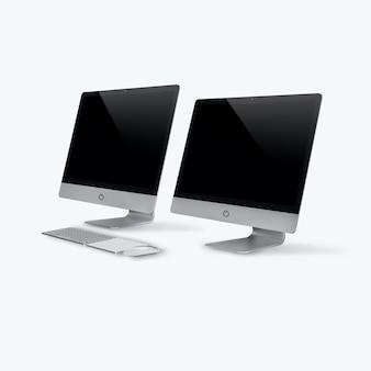 3d-rendering eines desktop-computers