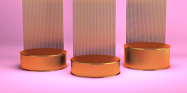 3d-rendering eines geometrischen hintergrunds für kommerzielle werbung