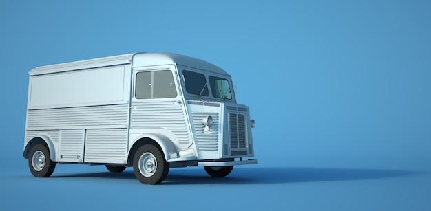 3d-rendering eines kleinen vintage-lastwagens