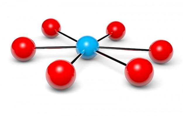 3d-rendering eines netzwerk-hotspots