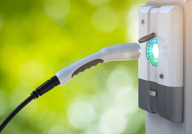 3d-rendering ev-ladestationen oder ladestationen für elektrofahrzeuge