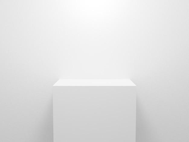 3d-rendering für anzeigeproduktobjekt weiße tabelle auf weißem hintergrund abstrakt