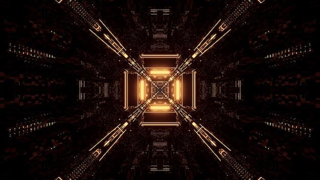 3d-rendering futuristische sci-fi-techno-lichter - ein cooler hintergrund Kostenlose Fotos