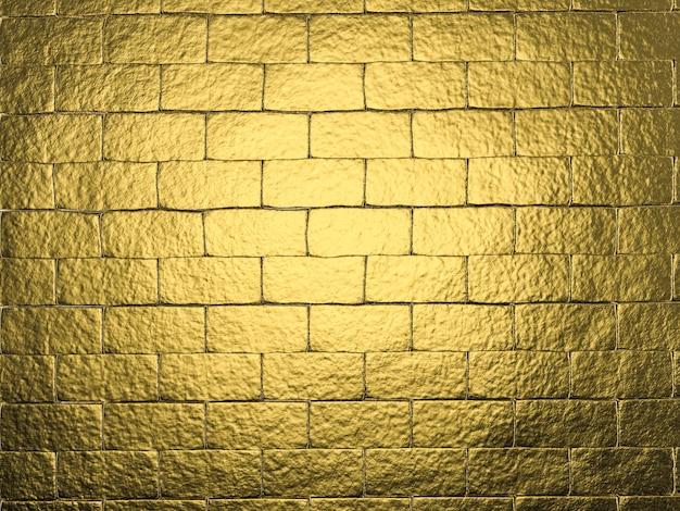 3d-rendering goldener wandhintergrund