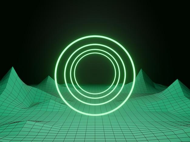 3d-rendering. grünlichttunnel