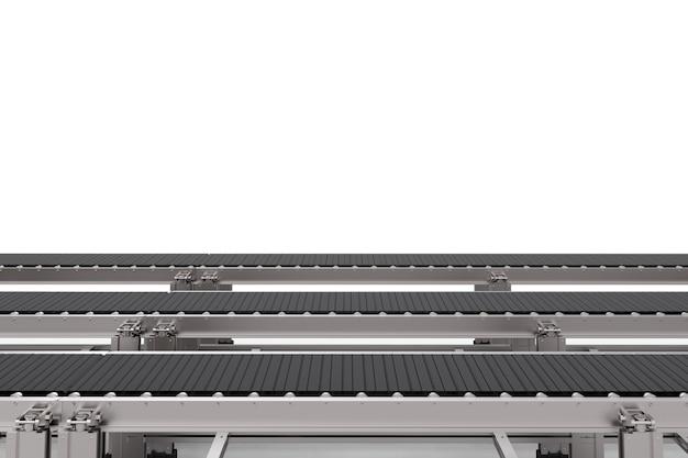 3d-rendering gummiförderbänder auf weißem hintergrund
